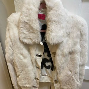 Juicy Couture Rabbit Fur & Leather Jacket